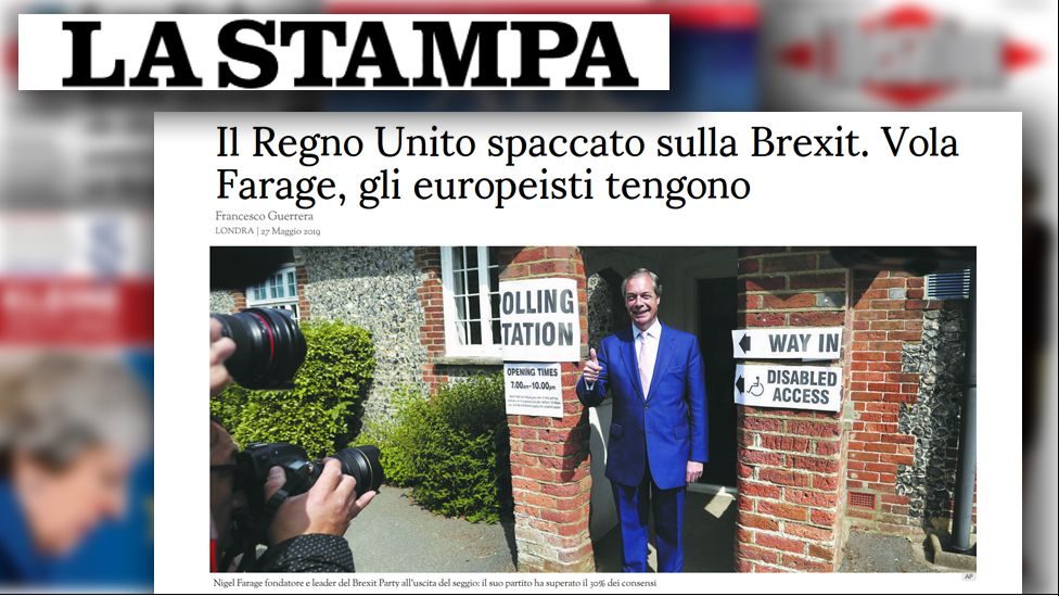 Article from Italian newspaper La Stampa, 27 May 2019