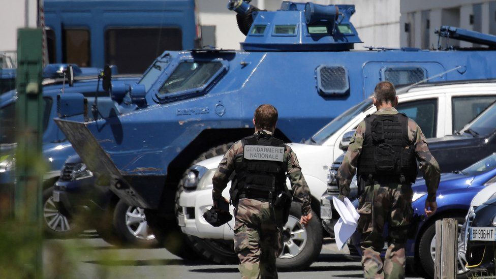 Security forces and armoured cars