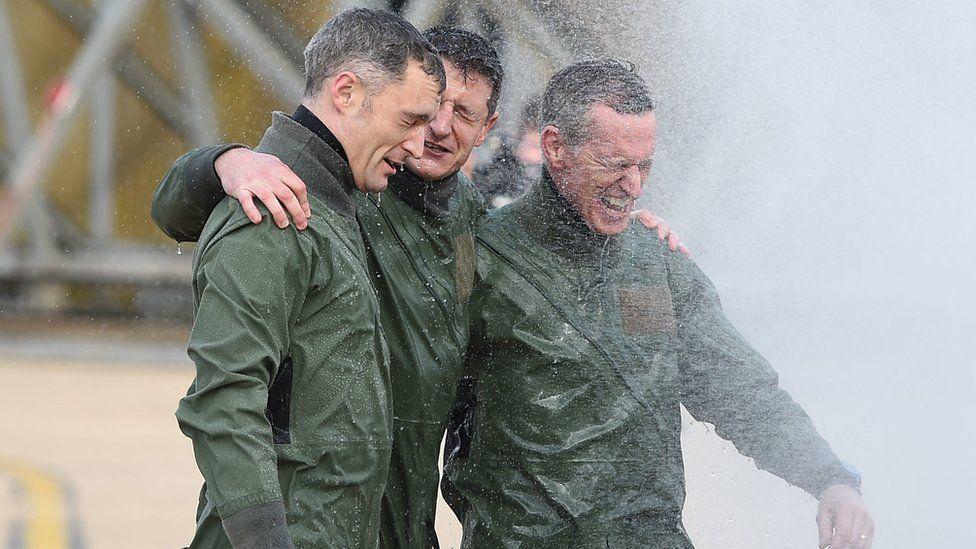 Sir Stephen Hillier, Ian Townsend and Chris Whitehair