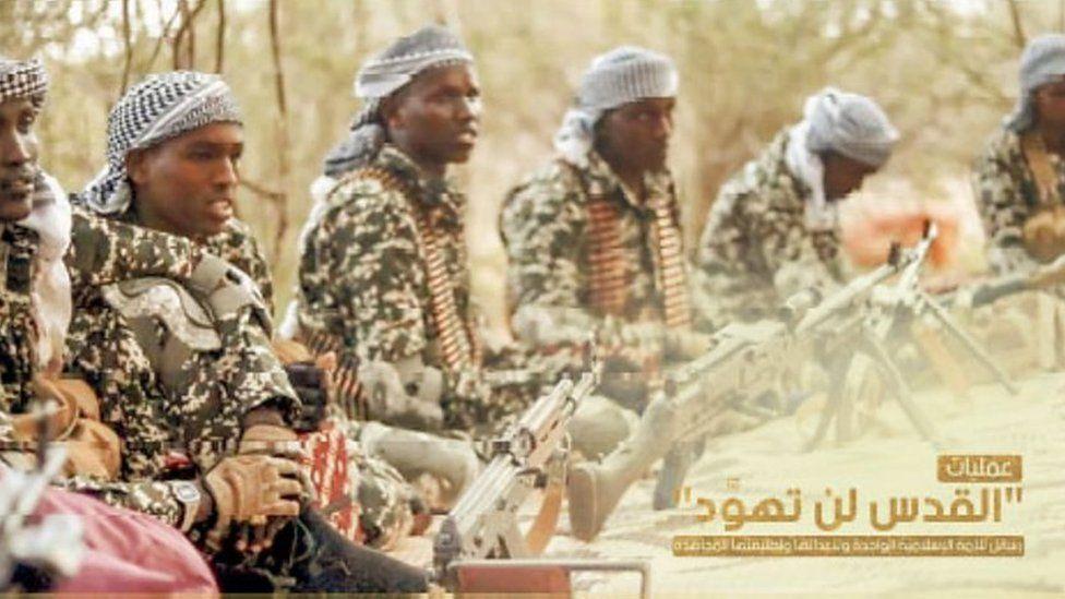 Propaganda picture of Al-Shabab
