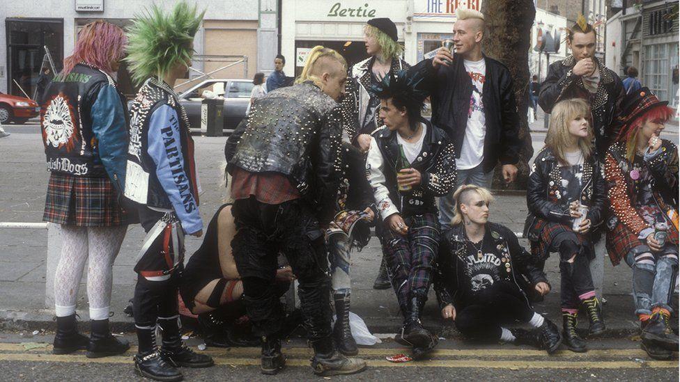 Punks - some wearing Dr Martens