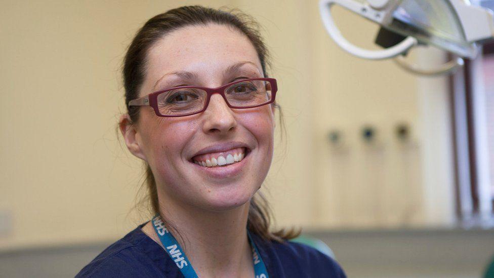 Senior dentist Charlotte Waite