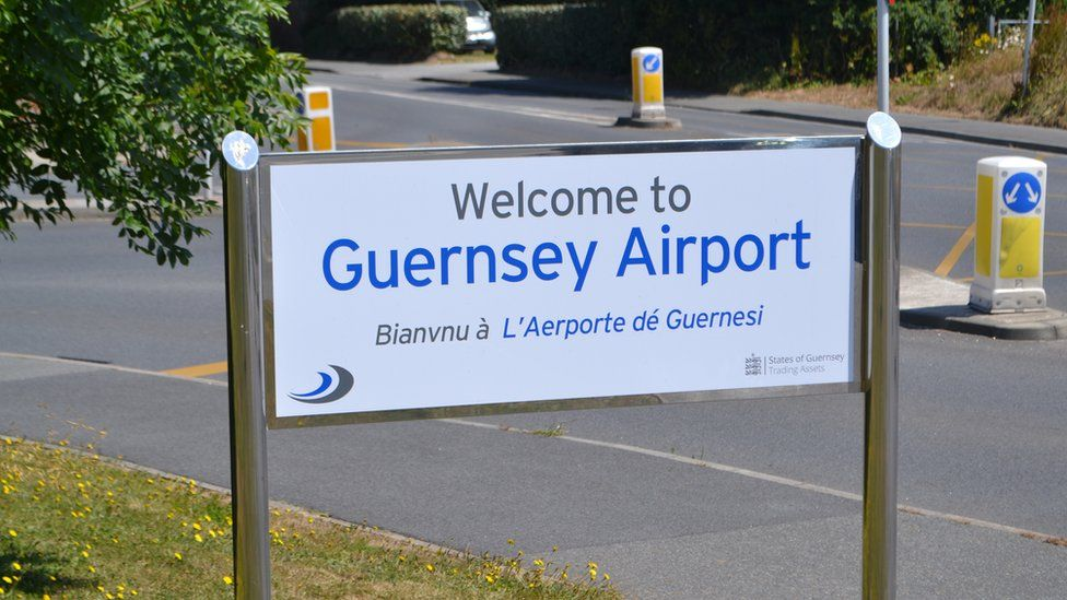 Guernsey Airport sign