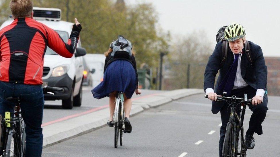 Boris Johnson launches cycle superhighway