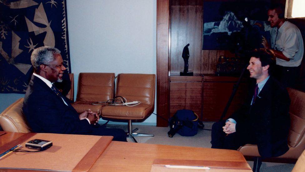 Mark Devenport interviewing Kofi Annan