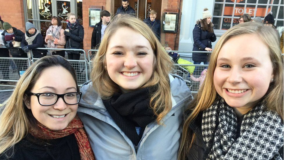 Abby Gentile, from Chicago, Mandy Koehler, from Nebraska and Shannon Jauvequi, from California
