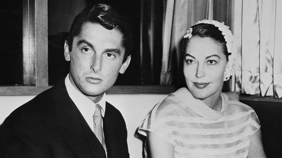 Robert Evans with Ava Gardner in 1957
