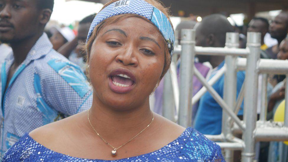 Ethel Teih attends a MRC rally
