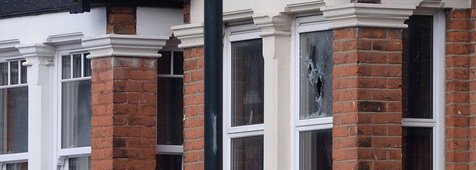 Shot out window in Willesden