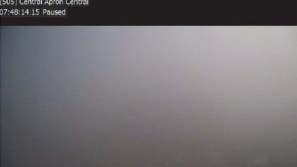 View on CCTV from air traffic control