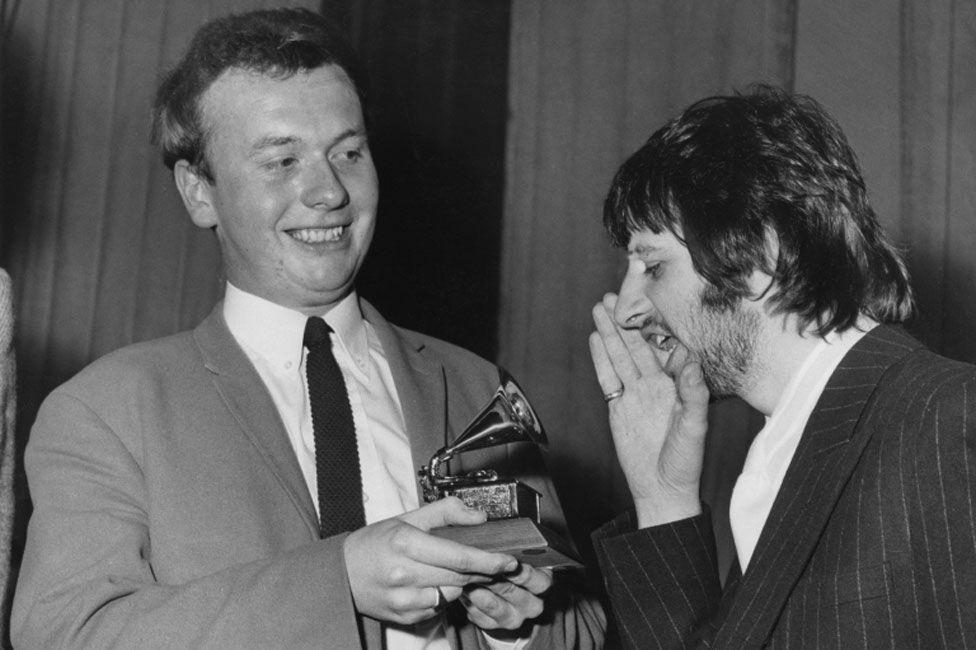 Geoff Emerick with Ringo Starr in 1968