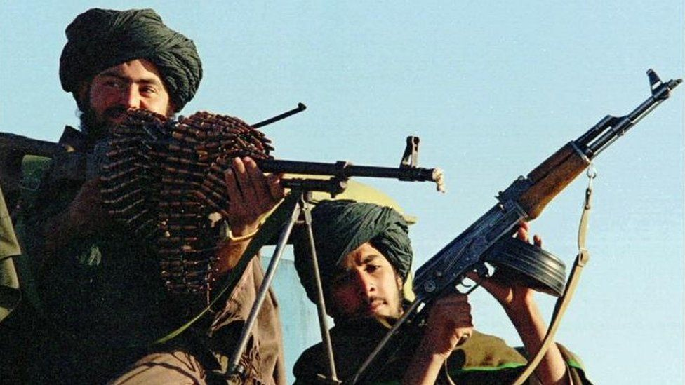File photo of Afghan Taliban fighters