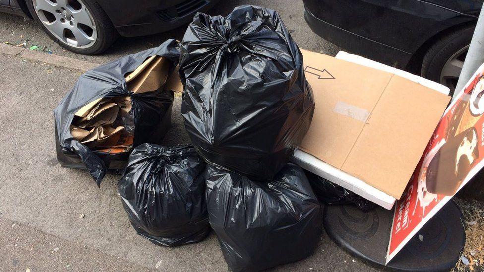Rubbish on Birmingham streets