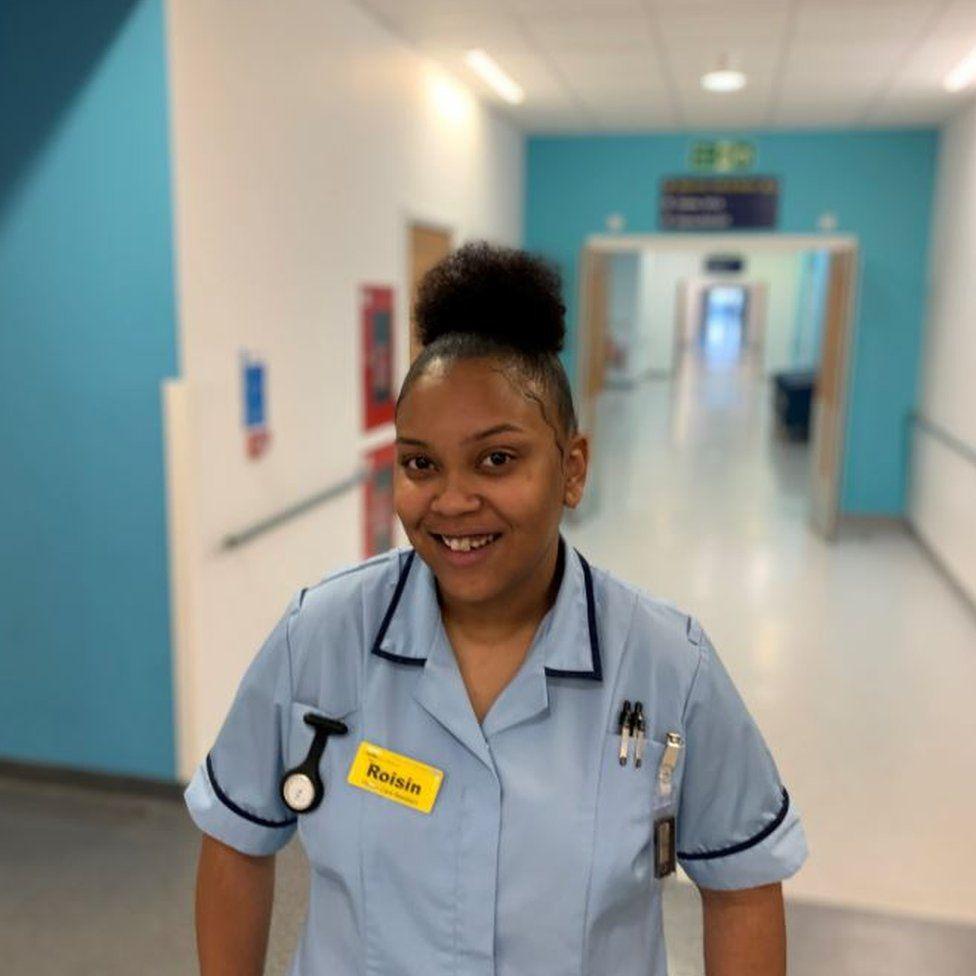 Roisin Brown on hospital ward biggest hospital