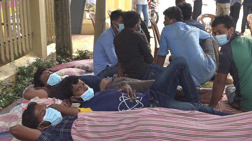 Students on hunger strike