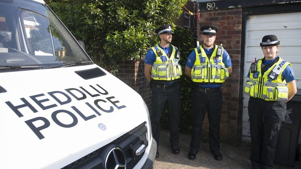Officers are carrying out searches at a property in the Cardiff area