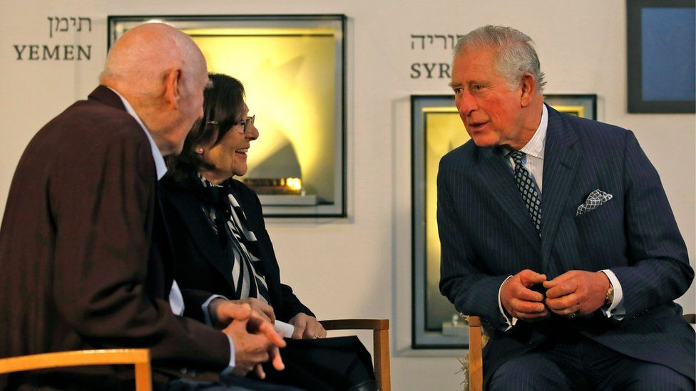 The Prince of Wales with George Shefi and Marta Wise