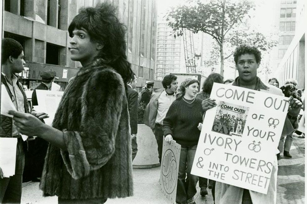 Marsha P Johnson in 1970
