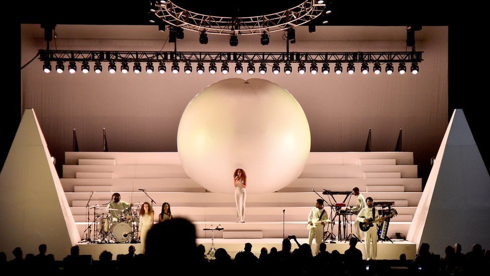 Solange Knowles performs with The Sun Ra Arkestra