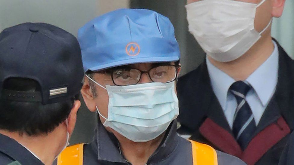Former Nissan chairman Carlos Ghosn leaves the Tokyo Detention House