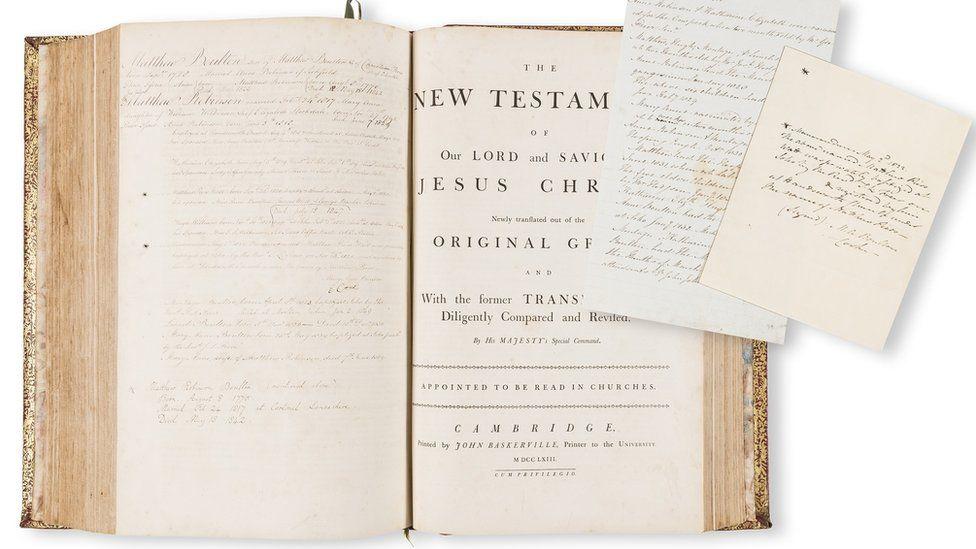 Matthew Boulton's family bible