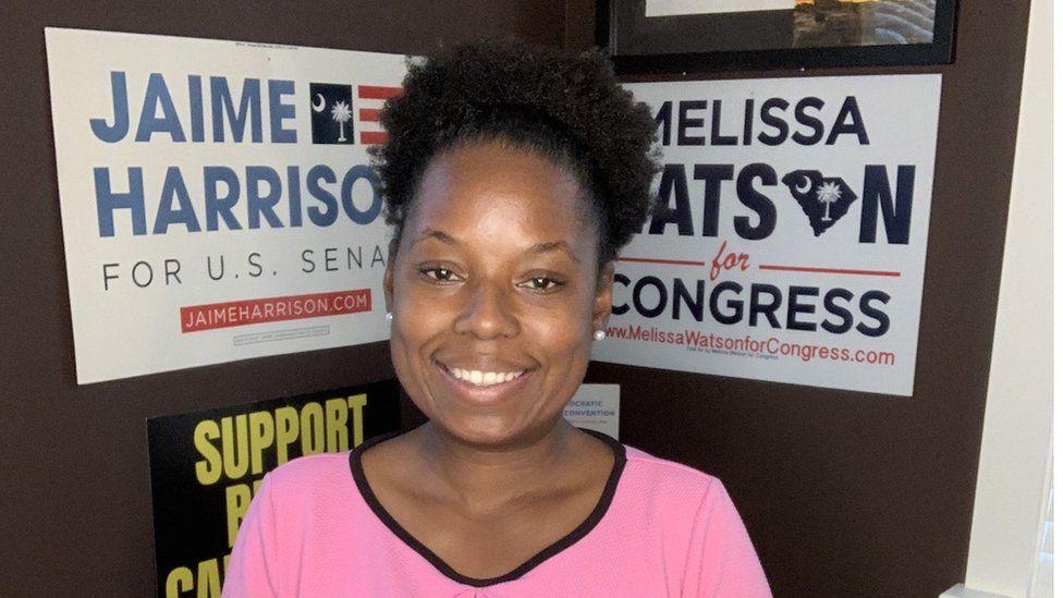 Melissa Watson, a schoolteacher and army veteran standing for Congress in South Carolina.