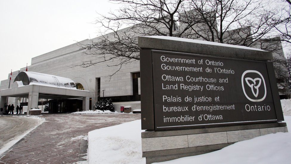 The courthouse in Ottawa, Canada, Joshua Boyle's trial was held