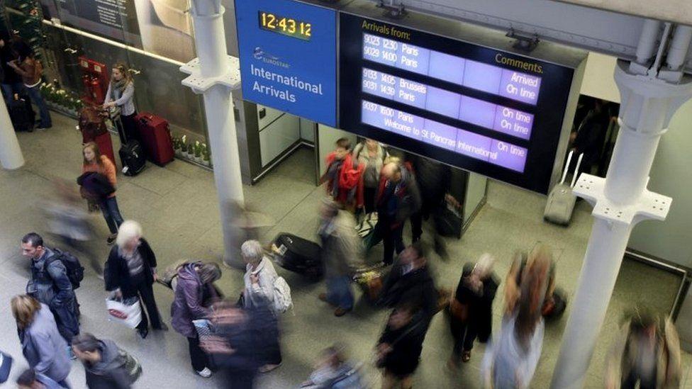 Eurostar arrivals St Pancras