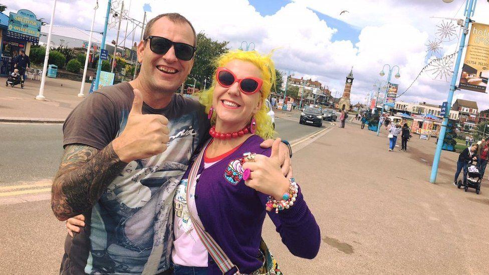 Gina Parkin and her boyfriend