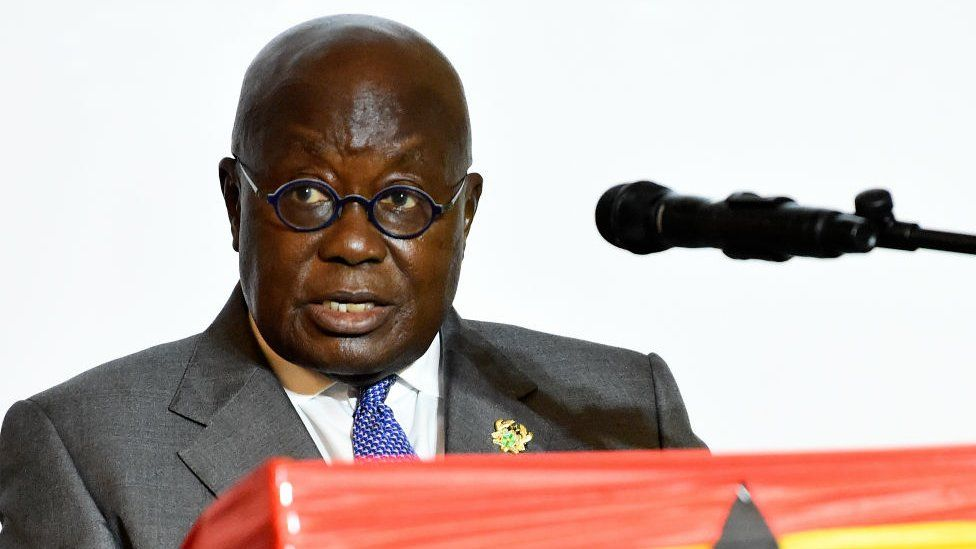 Ghanian President and candidate of the ruling New Patriotic Party (NPP) Nana Akufo-Addo
