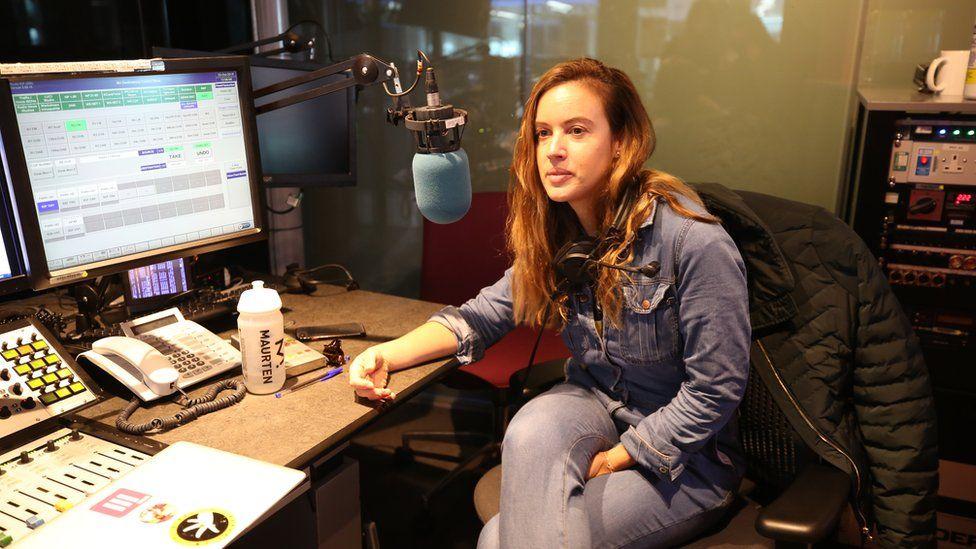 Charlie Webster speaking in The Next Episode studio