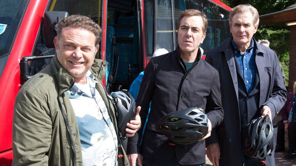 John Thomson, James Nesbitt and Robert Bathurst in Cold Feet