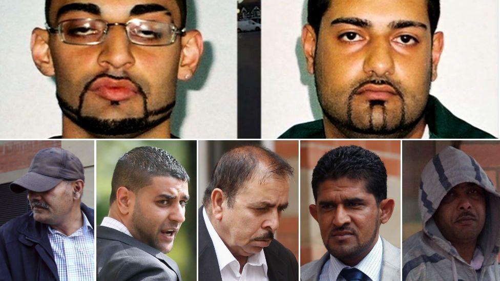 Top row: Ahdel and Mubarek Ali (l-r brothers)