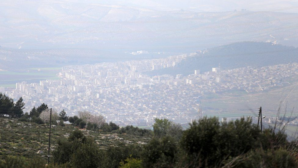 View of Syrian city of Afrin from Maryamayn village (11 March 2018)