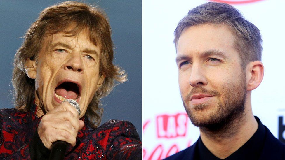 Mick Jagger and Calvin Harris