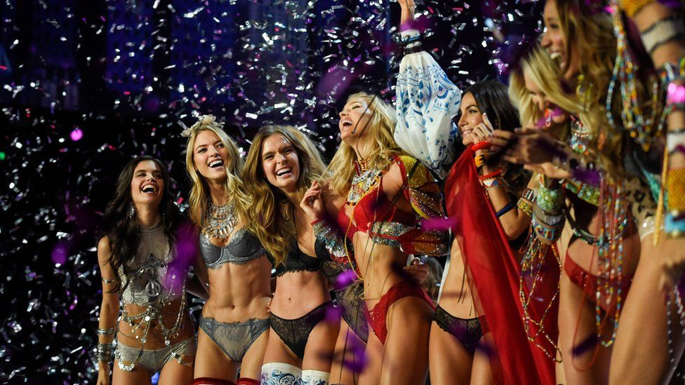 Models on stage at the Shanghai Victoria's Secret show