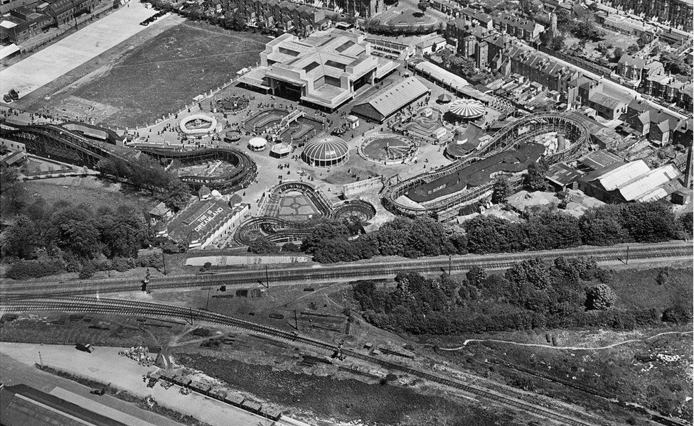 An aerial view of Dreamland Amusement Park, Margate, Kent, taken in May 1931