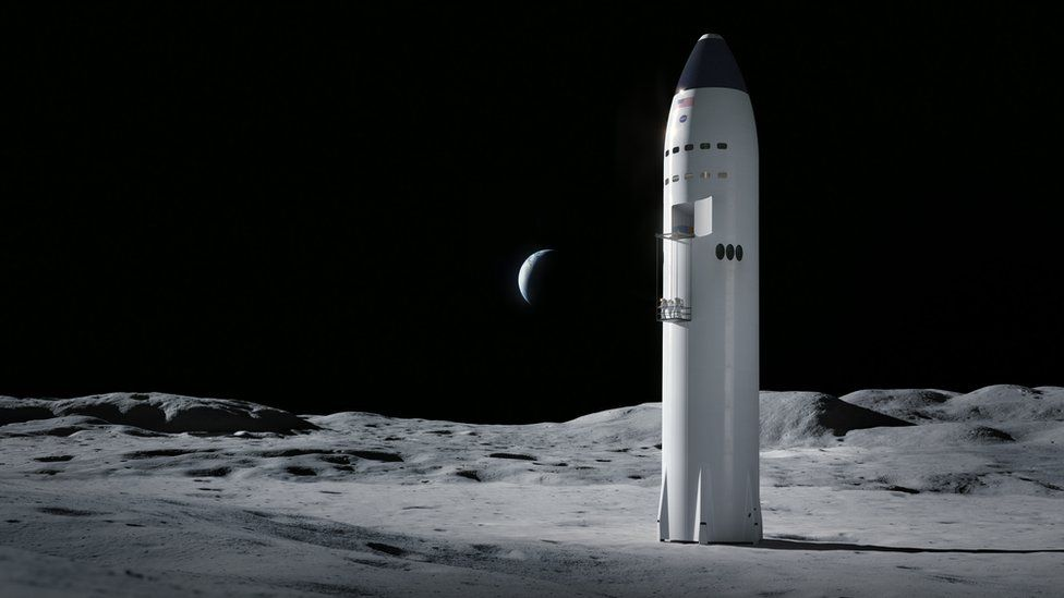 Artwork of Moon landing