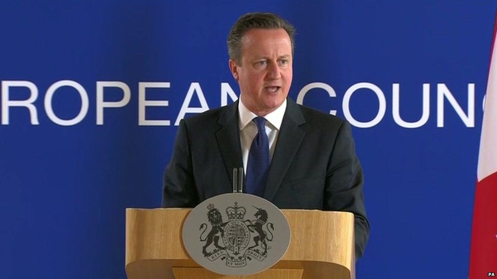David Cameron at a European Council summit
