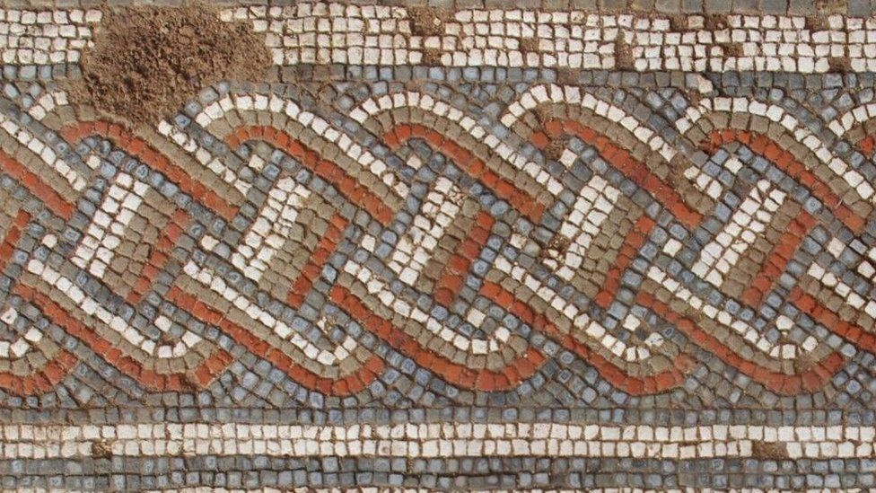 Roman mosaic in 'exciting' discovery one of three of its