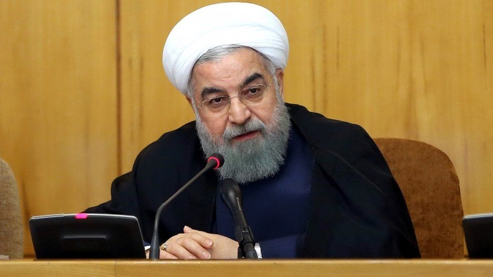 President Hassan Rouhani pictured chairing a cabinet meeting in Tehran on 19 July, 2017.