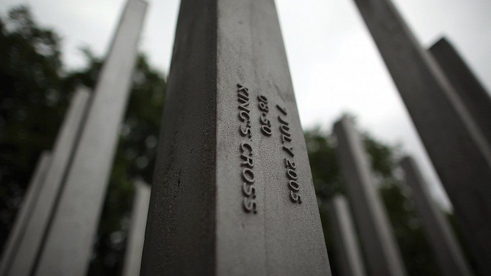 The 7 July attacks memorial in Hyde Park, London