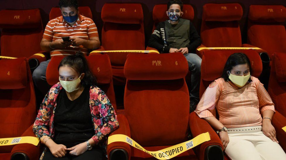 India Covid-19: Bollywood faces biggest box office test as cinemas open -  BBC News
