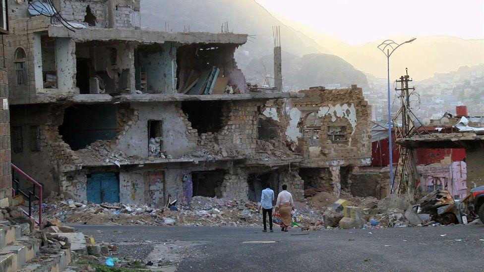 Street scene in Taiz