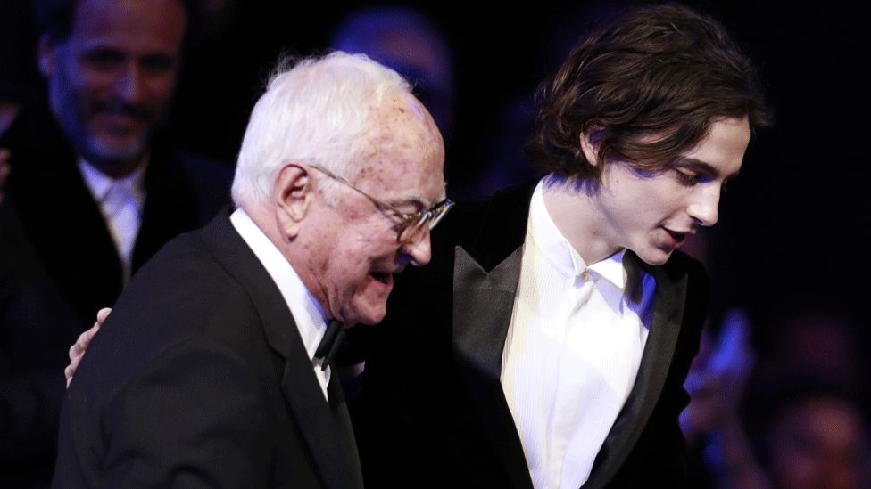 James Ivory and Timothee Chalamet