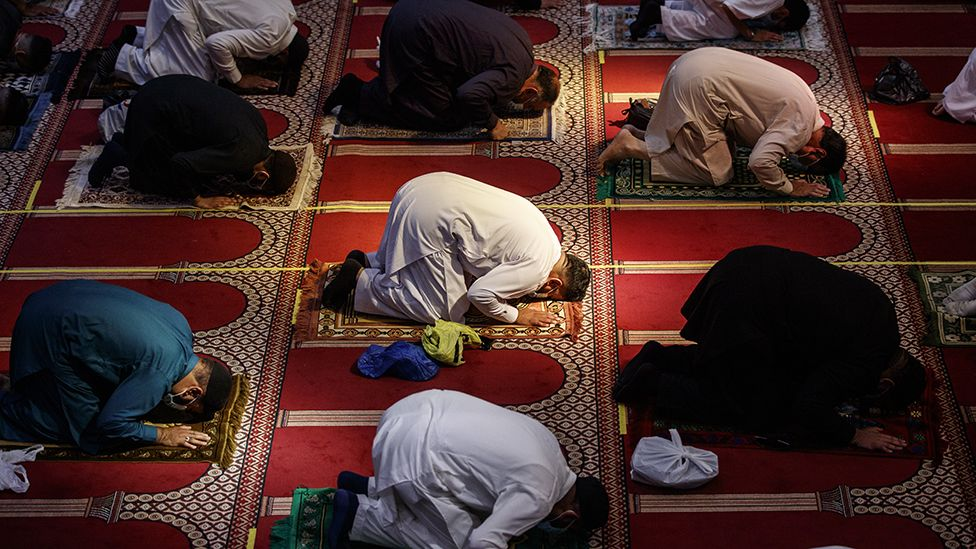 Eid prayers in Bradford, 2020