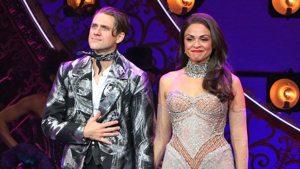 Aaron Tveit and Karen Olivo