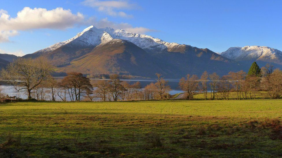 View south over the water towards the Ballachulish horseshoe ridge