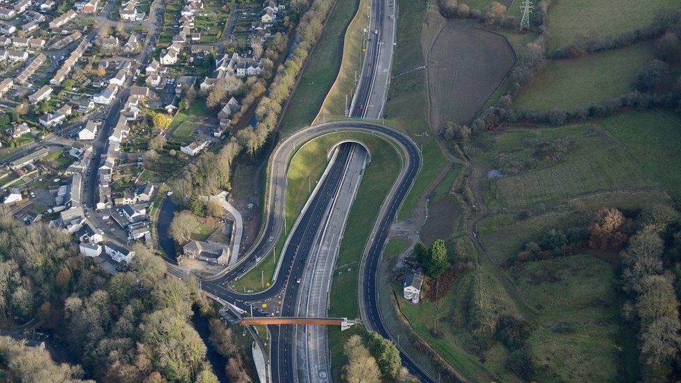 Part of the A465