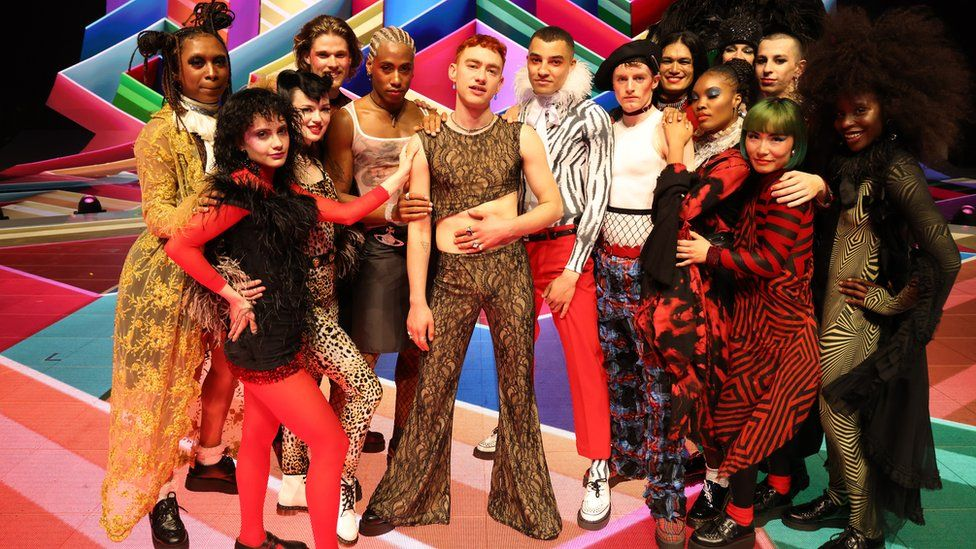 Olly Alexander and dancers at the Brit Awards